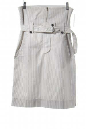 Strenesse High Waist Skirt white-black striped pattern casual look