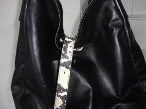 Strenesse Borsa sacco nero-beige chiaro Pelle