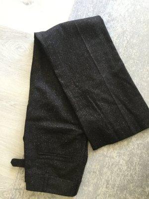 Strenesse Pantalon en laine brun noir-marron clair laine vierge