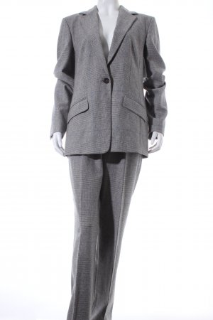 Strenesse Trouser Suit grey-light grey check pattern business style