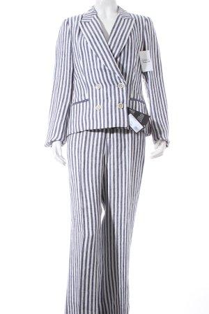 Strenesse Traje de pantalón blanco-azul estampado a rayas Estilo playero