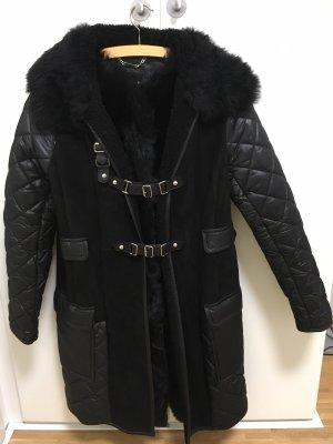 Strenesse Jacke aus Lammfell, Leder und Stepp