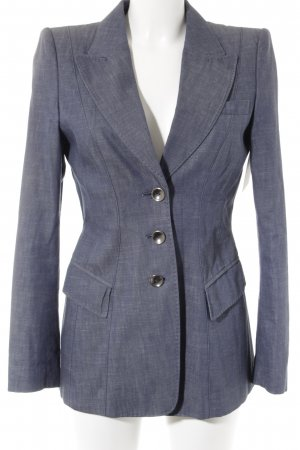 Strenesse Denim Blazer steel blue flecked business style