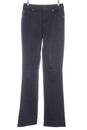 Strenesse Jeans a zampa d'elefante blu scuro stile casual