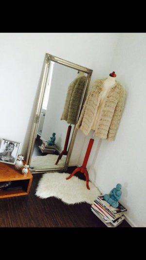 Strenesse Kaninchen Lamm Fell Pelz Jacke Mantel Größe 36-40 oversize neu !!!