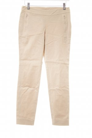 Strenesse Peg Top Trousers cream weave pattern casual look