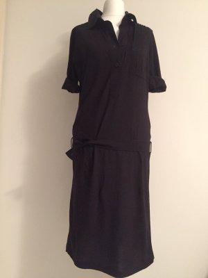 Strenesse Vestido estilo camisa negro