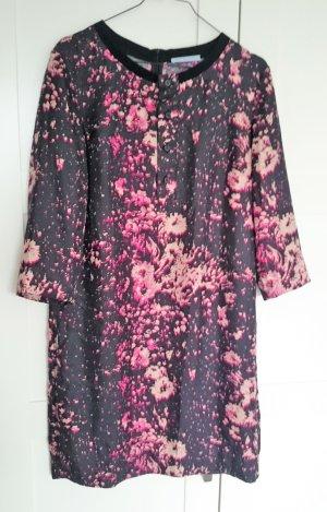 Strenesse Kleid Cocktailkleid Seide schwarz pink Gr. S 36