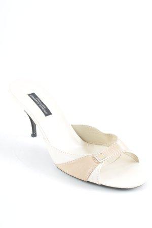Strenesse Sandalias cómodas crema estilo clásico