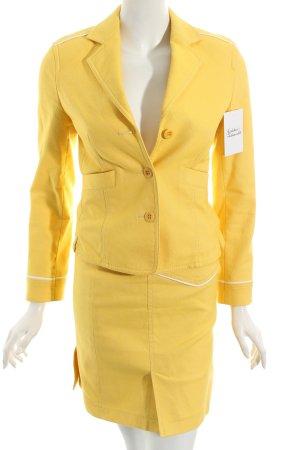 Strenesse Kostüm gelb extravaganter Stil
