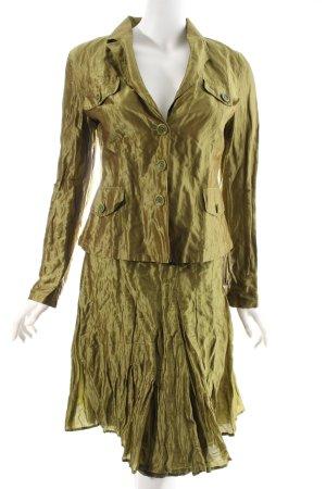 Strenesse Kostüm olivgrün-grün Metallic-Optik