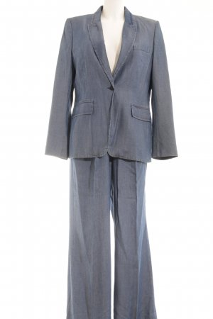 Strenesse Kostüm stahlblau Jeans-Optik