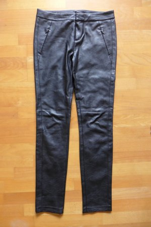 Strenesse Leather Trousers black imitation leather