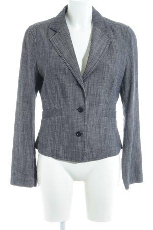 Strenesse Kurz-Blazer grau-dunkelblau meliert Business-Look