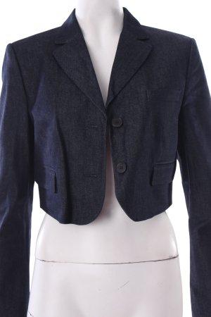Strenesse Kurz-Blazer stahlblau Street-Fashion-Look