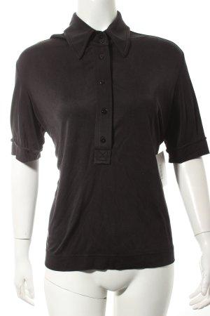 Strenesse Kurzarm-Bluse schwarz klassischer Stil