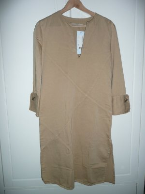 Strenesse lässiges Tunika Kleid Casual Dress m Fransen Detail Beige Sand Gr 40