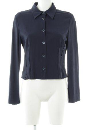 Strenesse Langarm-Bluse dunkelblau schlichter Stil