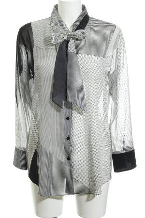 Strenesse Langarm-Bluse hellgrau-grau Mustermix Elegant