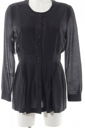 Strenesse Langarm-Bluse schwarz Casual-Look