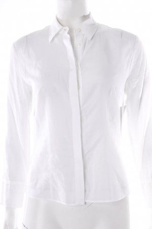 Strenesse Langarm-Bluse weiß Transparenz-Optik