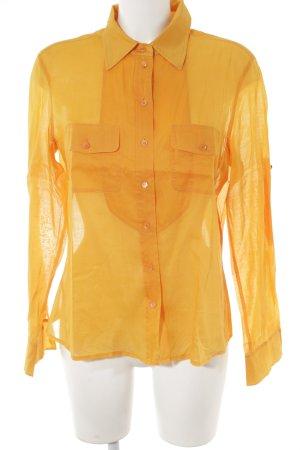 Strenesse Camisa de manga larga naranja claro look casual