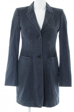 Strenesse Lange Jacke dunkelblau Washed-Optik