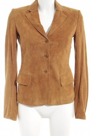 Strenesse Leather Blazer light orange business style