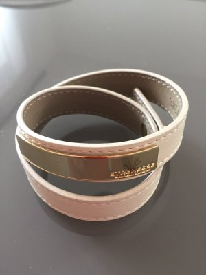 Strenesse Gabriele Strehle Leather Bracelet cream-gold-colored leather