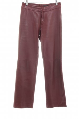 Strenesse Pantalone in pelle rosso stile casual
