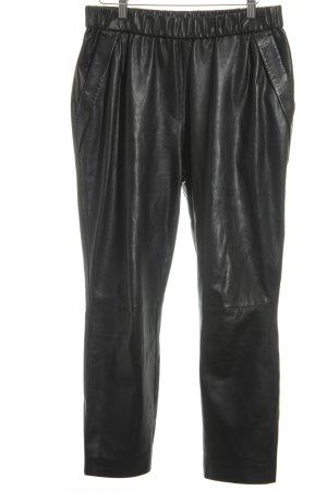 Strenesse Lederhose schwarz schlichter Stil