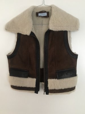 Strenesse Fur vest multicolored suede