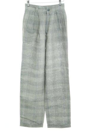 Strenesse Pantalone di lino verde chiaro motivo a quadri