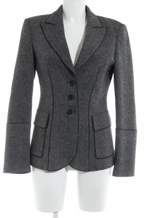 Strenesse Long-Blazer schwarz-wollweiß Business-Look