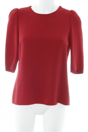 Strenesse Camisa larga rojo ladrillo estilo romántico