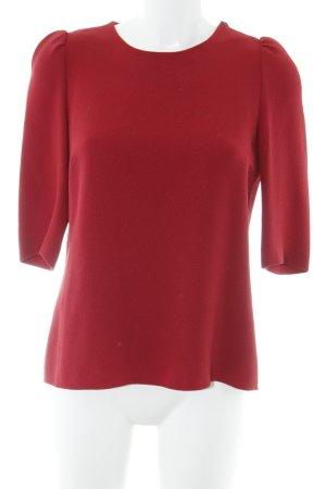 Strenesse Camicia lunga rosso mattone stile romantico