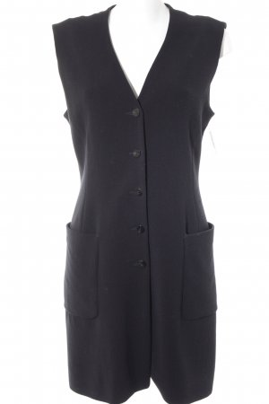 Strenesse Long Knitted Vest black business style