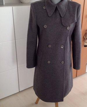 Strenesse Luxus Mantel grau Wollmantel Gr.40
