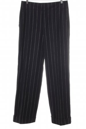 Strenesse Marlene Trousers black-natural white striped pattern business style