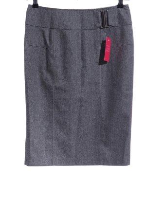 Strenesse Midi Skirt light grey flecked business style