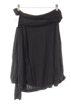Strenesse Midirock schwarz schlichter Stil