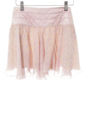 Strenesse Minirock rosa-altrosa florales Muster Casual-Look