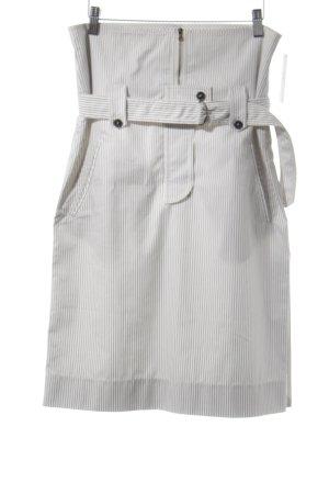 Strenesse Minirock weiß-schwarz Streifenmuster Casual-Look