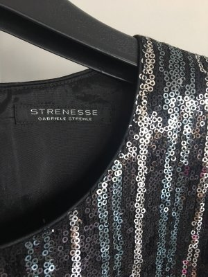 Strenesse Sequin Dress silver-colored-black