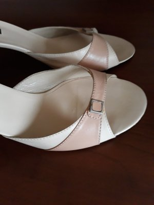 Strenesse Gabriele Strehle Heel Pantolettes cream-natural white leather