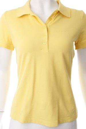 Strenesse Polo-Shirt gelb Schriftzug gestickt sportlicher Stil