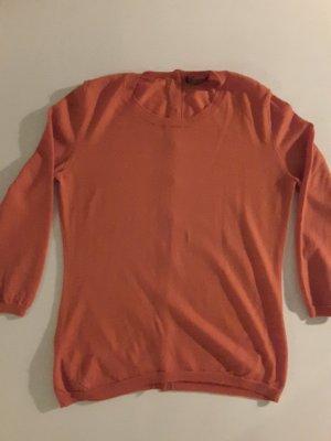 Strenesse Pulli, orange, rückseitig geknöpft