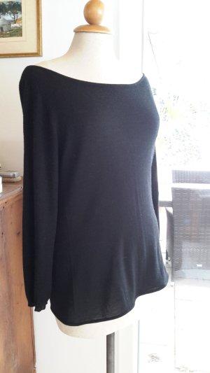 Strenesse Pullover schwarz M/38 Merino/Seide