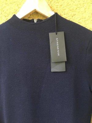 Strenesse Pullover Strickpullover Wolle Wool dunkelblau marine Größe 32; 34-36 passend; xs xxs