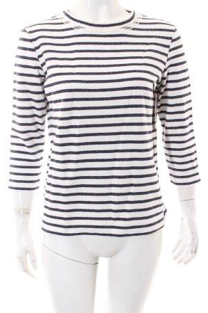 Strenesse Pullover weiß-dunkelblau Casual-Look
